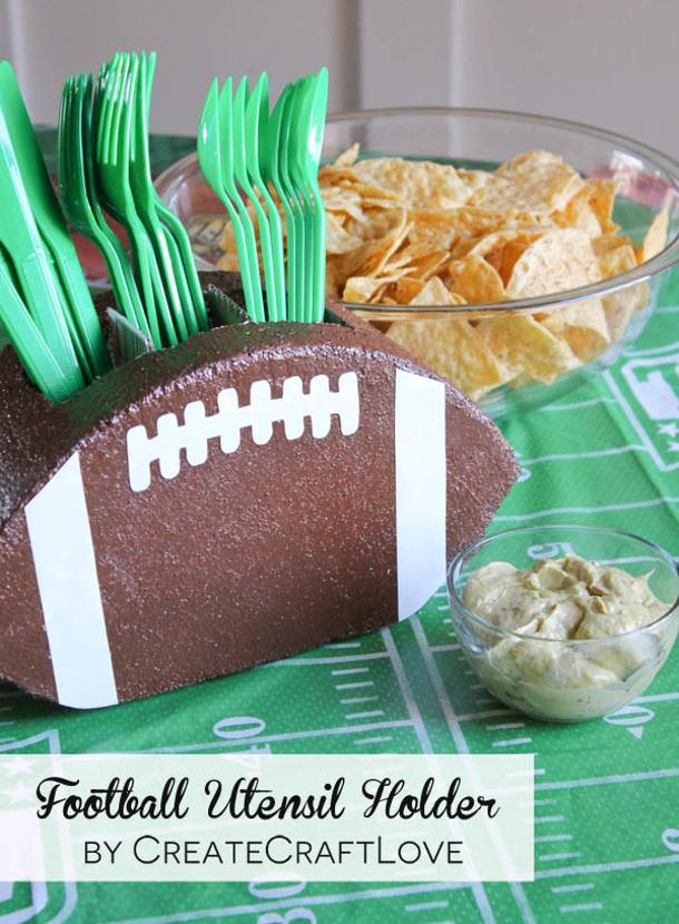 football-utensil-holder Create Craft Love