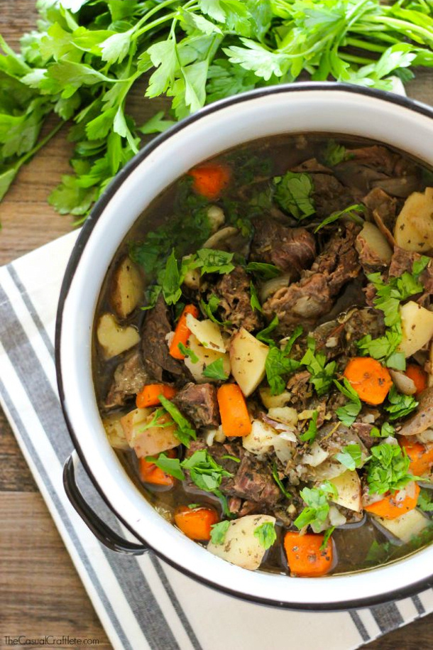 Clean Eating Slow Cooker Beef Stew Recipe The Casual Craftlete