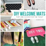 DIY Welcome Mats | landeelu.com Make your doormat exactly how you want it! Lots of inspiring ideas here!
