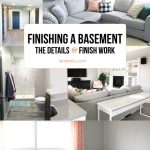 Great ideas on the process of finishing a basement! So many fun details in this basement!