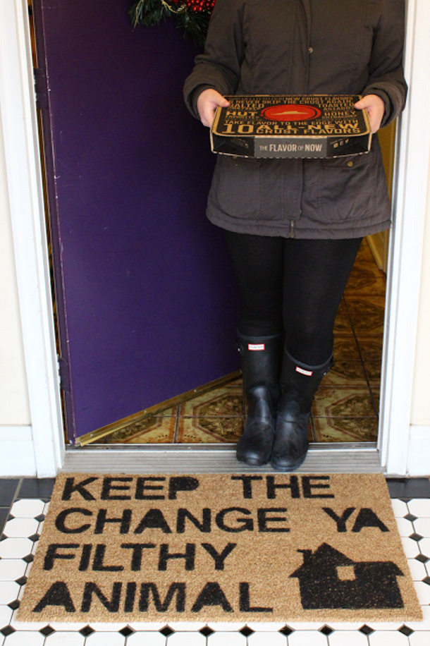 Keep The Change you Filthy Animal Home Alone Inspired Doormat
