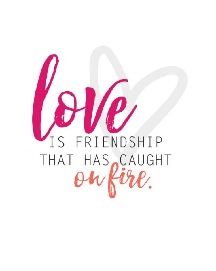 Love and Friendship quote and free printable | landeelu.com