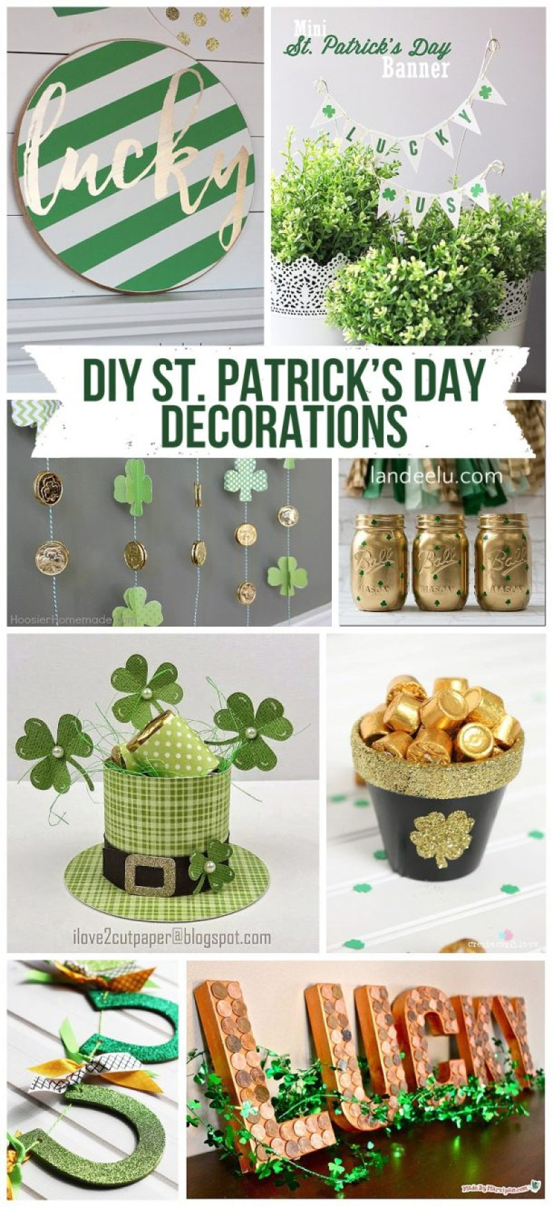 DIY St. Patrick's Day Decorations! So many awesome ideas! | landeelu.com