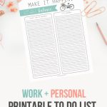 Work + Life Balance To Do List Template Printable | landeelu.com Great way to organize business and personal stuff into task lists!