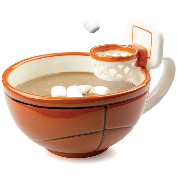 Basketball Mug with Hoop via Amazon