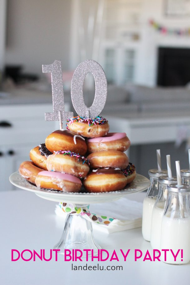 Donut Birthday Party Donut Cake Landeelu Com