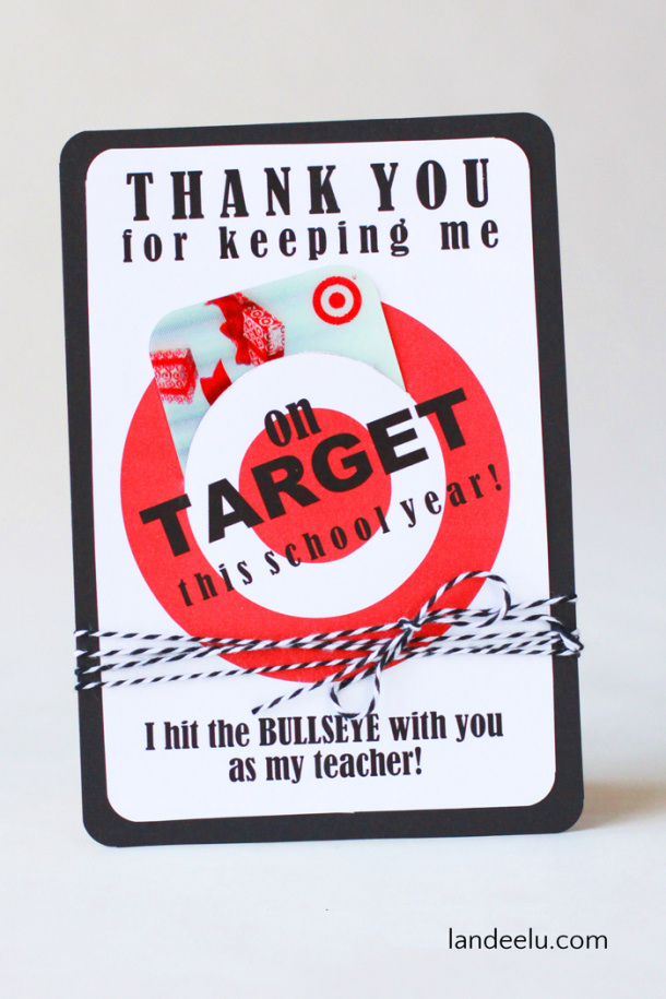 DIY Paper Craft Projects Ideas FREE PRINTABLE Target Gift Card Holder - Teacher Appreciation Gifts
