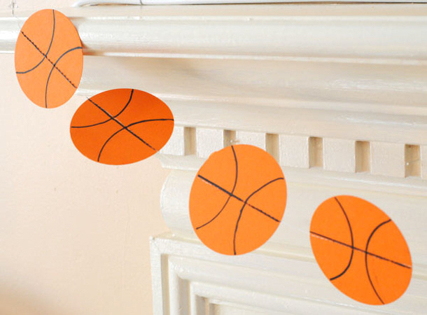 Easy DIY Paper Basketballs Garland The Flair Exchange