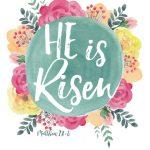 He is Risen: Easter Greetings Free Printable