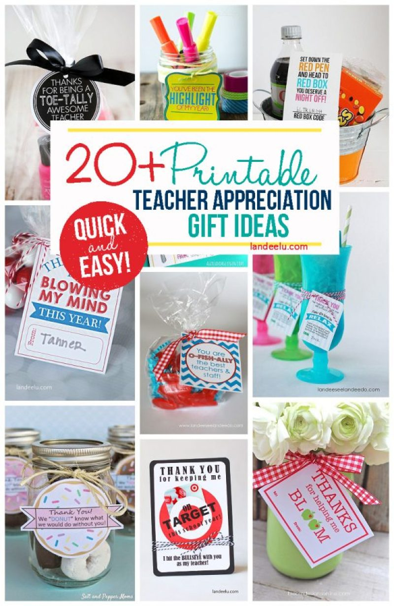 Quick and easy printable little gifts for teachers! Perfect for Teacher Appreciation Week!