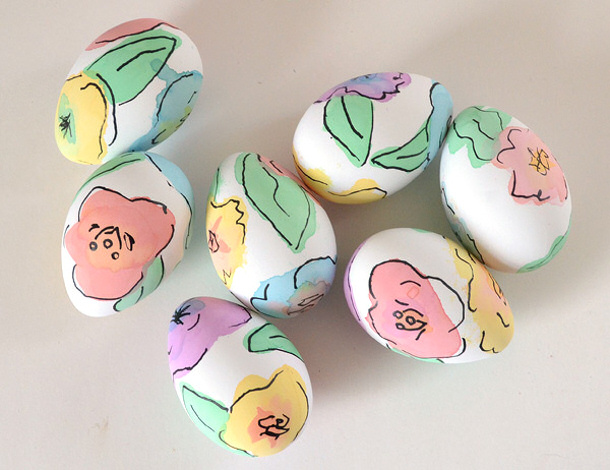 Watercolor floral-dyed-easter-eggs-dreamalittlebigger