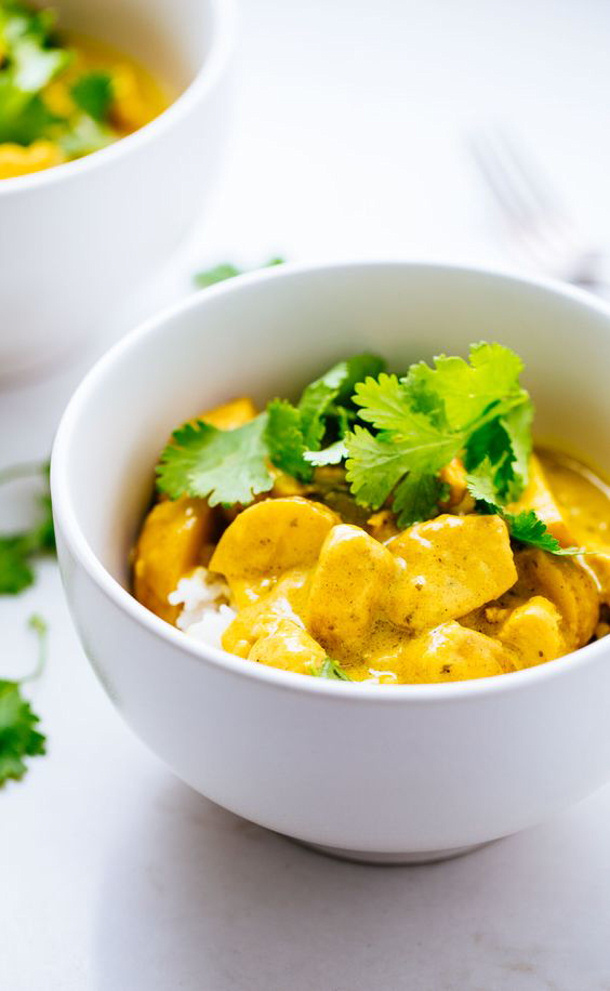 Chicken Curry Recipe - Thai Yellow Chicken Curry Recipe via Pinch of Yum