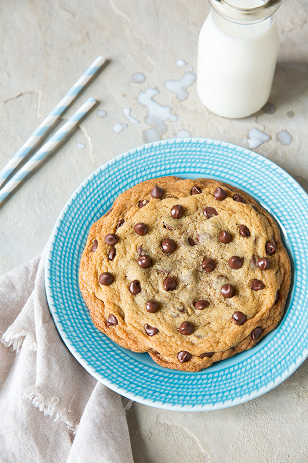 Chocolate Chip Cookies One Giant Single Serve Cookie Recipe via Cooking Classy