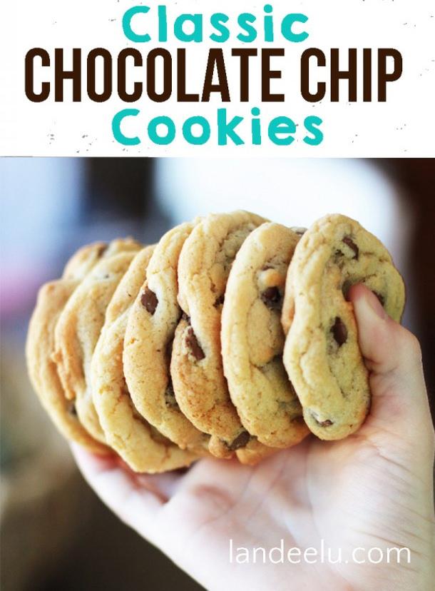 Classic Chocolate Chip Cookies Recipe via Landeelu