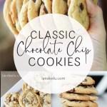 A no fail recipe for those perfect chocolate chip cookies! #cookierecipe #chocolatechipcookies #cookierecipe #dessertrecipe