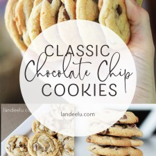 A no fail recipe for those perfect chocolate chip cookies! #cookierecipe #chocolatechipcookies #cookierecipe #dessertrecipe