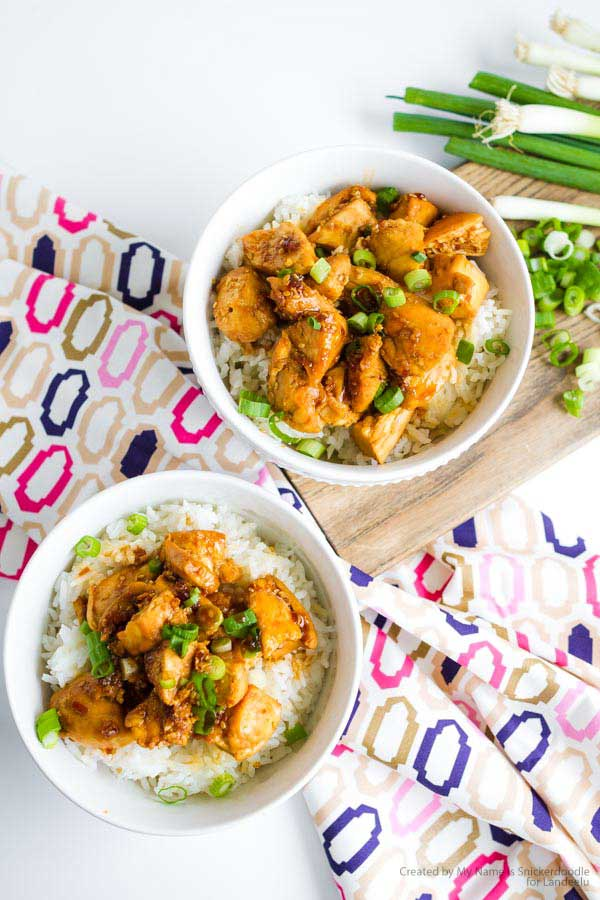 A delicious teriyaki chicken bowl recipe the whole family will love!