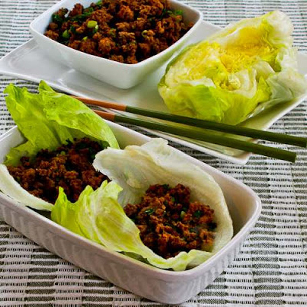 Ground Beef Recipes - Quick Sriracha Beef Lettuce Wraps via kalyns kitchen