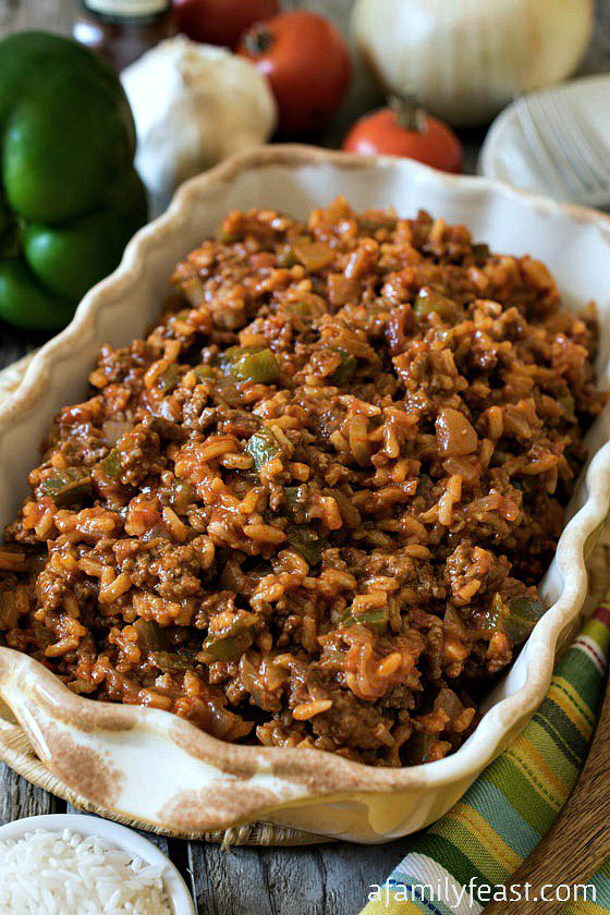 Ground Beef Recipes - Texas Hash Recipe via A Family Feast