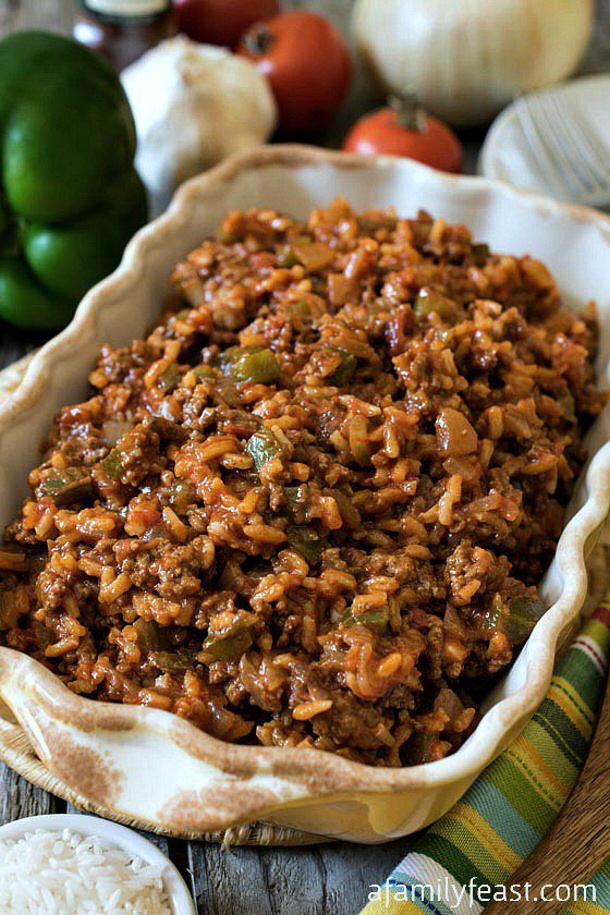 Ground Beef Recipes - Texas Hash Recipe via A Family Feast