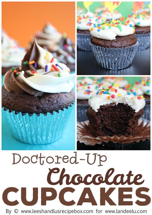 Pinnable Doctored Up Chocolate Cupcakes LandeeLu