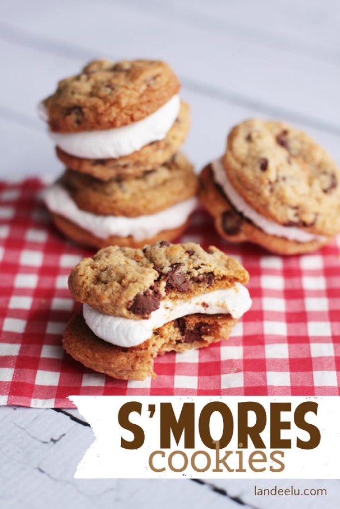 These s'mores cookies taste just like the ones you make over the campfire except you can have them whenever you want!!
