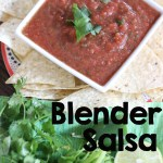 An easy blender salsa recipe you can whip up in no time with a simple shortcut!