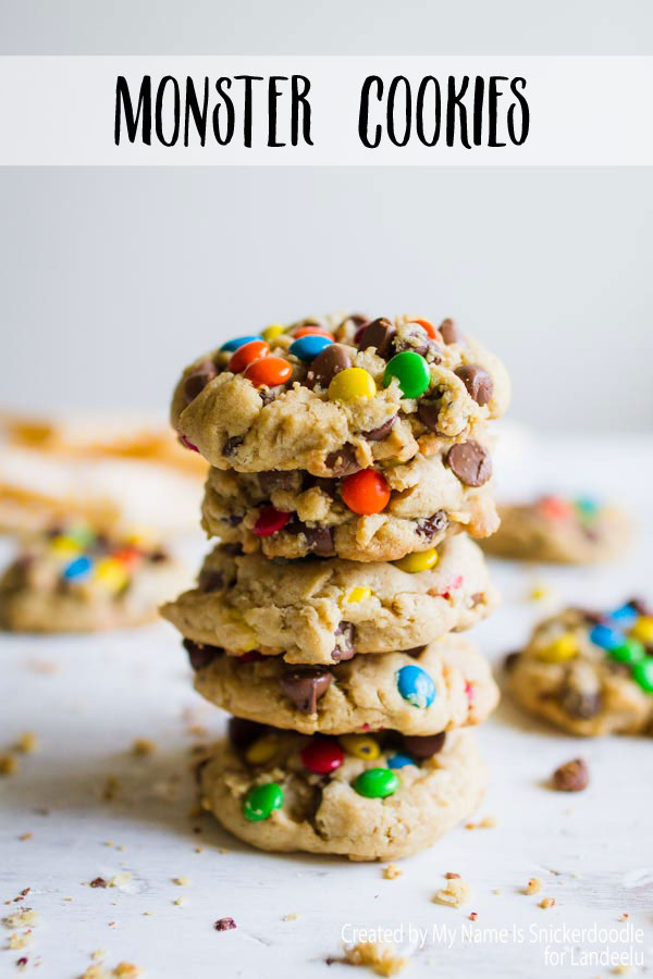 Delicious Monster Cookies made from all of your favorite cookie ingredients!