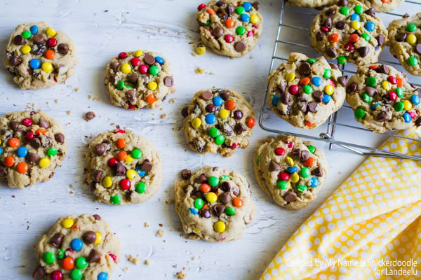 Amazing recipe for Monster Cookies made from all of your favorite cookie ingredients!!