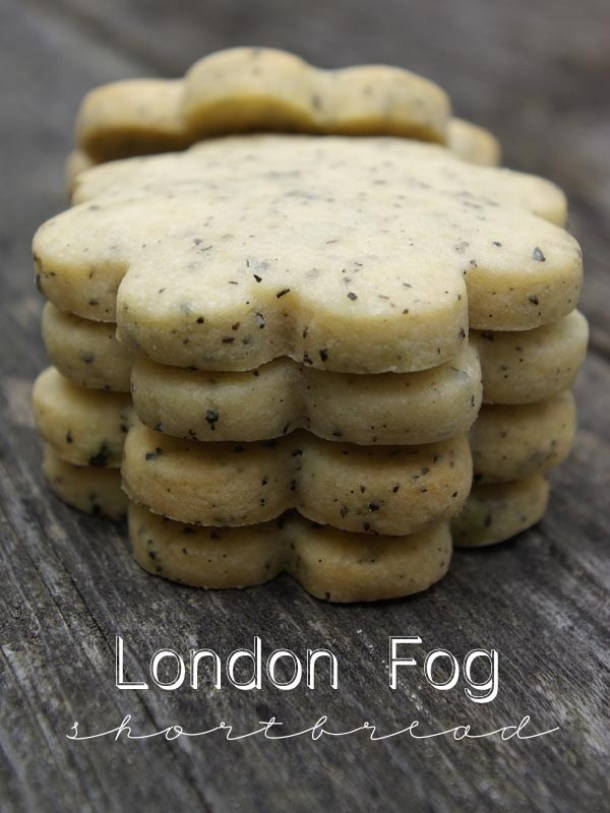 Shortbread Cookies - London Fog Shortbread Cookies with yummy Vanilla Bean - Recipe via Oleander and Palm
