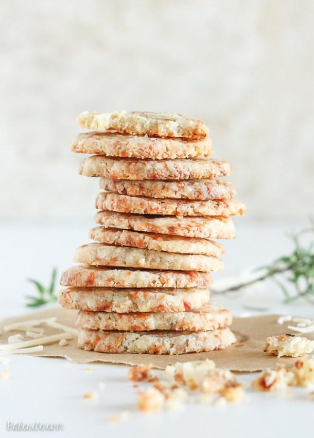 Shortbread Cookies - Parmesan Rosemary Shortbread Cookies Recipe via Bakerita