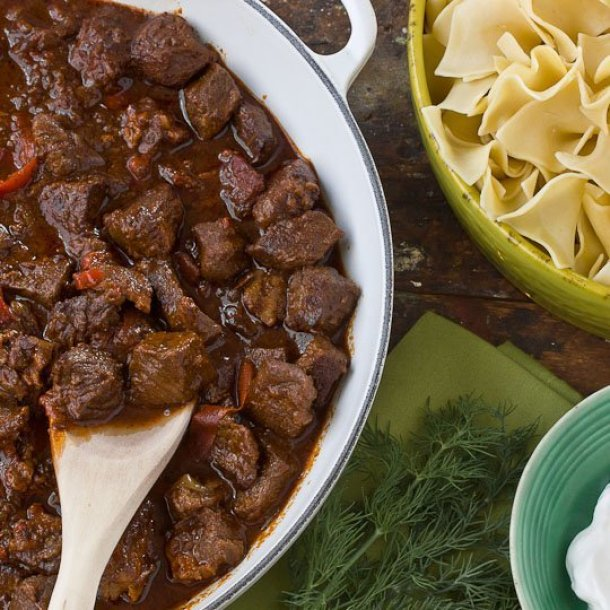 Beef Recipes - Beef Goulash Recipe via The Kitchn