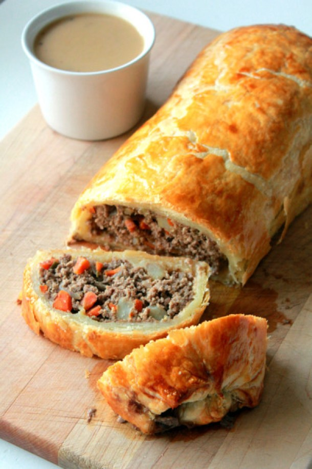 Beef Recipes - Minced Beef Wellington Family Dinner Recipe via Tasty Kitchen
