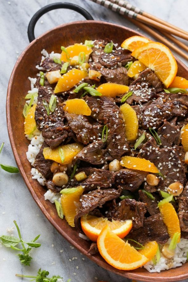 Beef Recipes - Orange Beef Stir Fry Recipe via Dinner at the Zoo