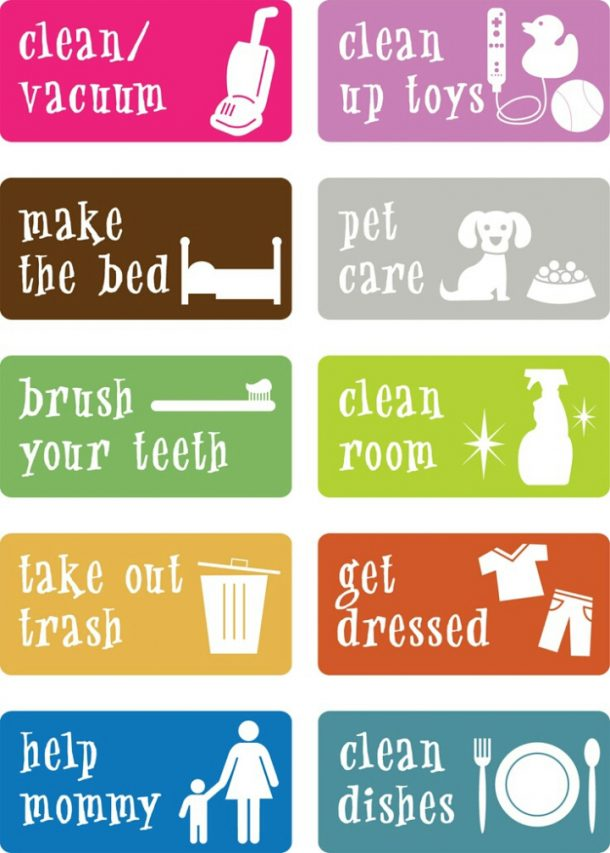 photograph relating to Chores Chart Printable known as Astounding Chore Charts That Exertion! -