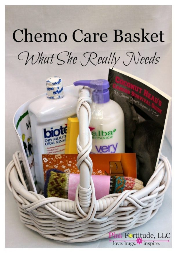 Do it Yourself Gift Basket Ideas - Chemo-Care-Basket-for-Cancer-What-She-Really-Needs-by-coconutheadsurvivalguide
