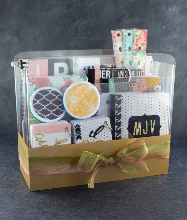Do it Yourself Gift Basket Ideas for all Occassions - DIY College School Supplies Gift Basket Idea and Tutorial via tatertots and jello