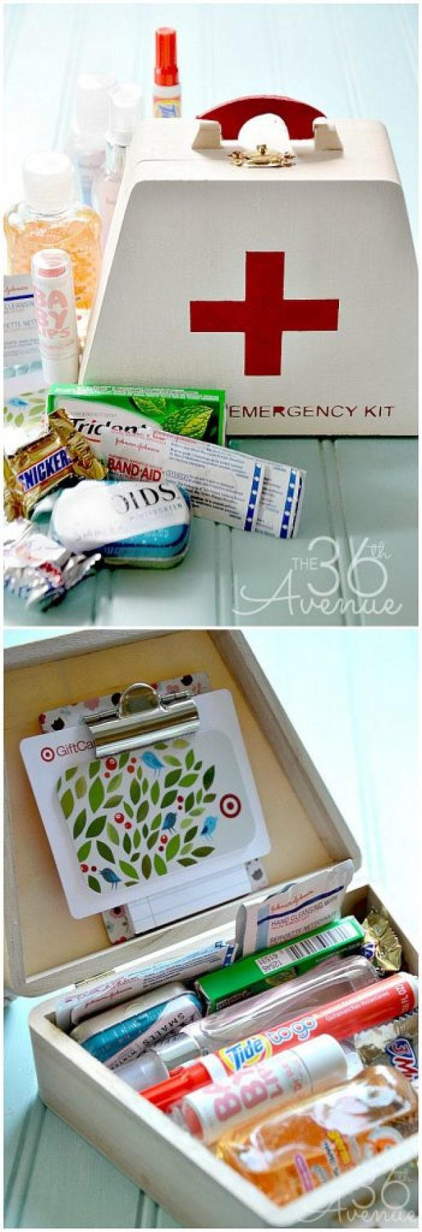 Do it Yourself Gift Basket Ideas for all Occassions - Perfect Teacher Back to School Emergency Kits Gift Bundle Idea and Tutorial via the 36th Avenue