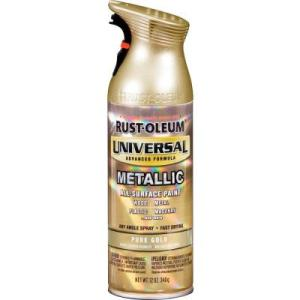 rustoleum metallic gold spray paint