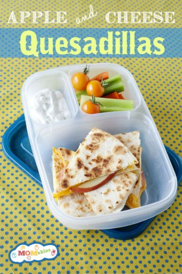 Apple and Cheese Quesadillas - Fun Back to School Lunch Recipe via Momables