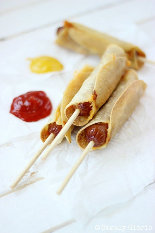 Baked Corn Tortillas Cheese Dogs with SimplyGloria - Fun Back to School Lunch Ideas and Recipes