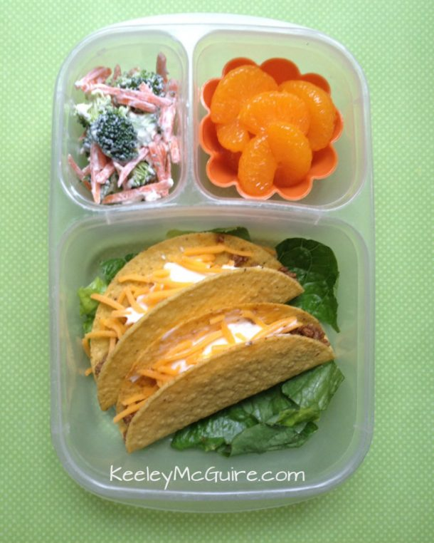Tacos for her and Nachos for Me - Fun Back to School Lunch Recipe and Ideas via Keeley McGuire