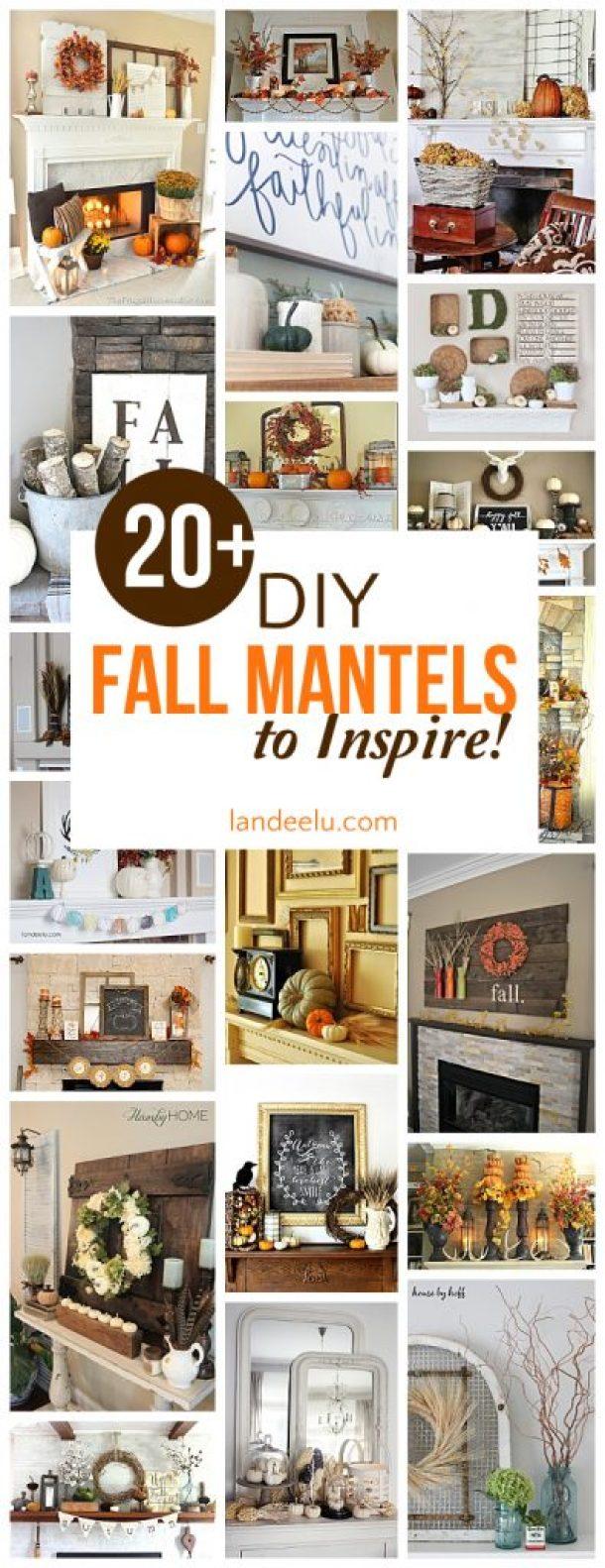 Over 20 beautiful DIY fall mantel ideas
