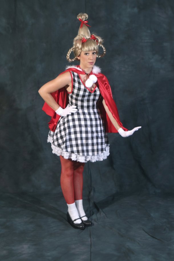 DIY Halloween Costumes Ideas - Cindy Lou Who from The Grinch Stole Christmas Costume Idea via designsashkat3