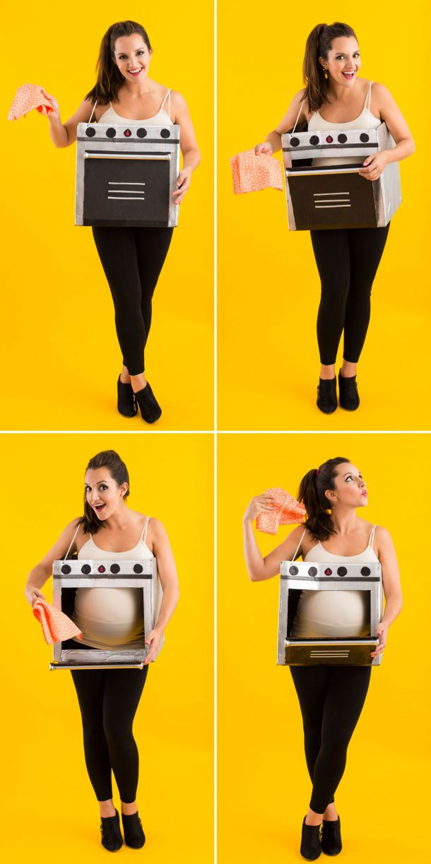 DIY Halloween Costumes Ideas - Maternity - Bun in the Oven cute Do it Yourself costume for pregnant ladies via Brit Co