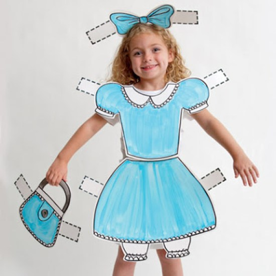 DIY Halloween Costumes Ideas - Paper Doll Costume via bobbie thomas