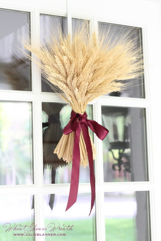 DIY projects ideas - Fall Wreaths - DIY Fall Wheat Sheaf Wreath - Simple and Classy Craft via Julie Blanner