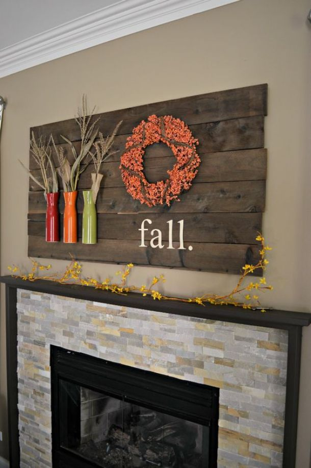 Do it Yourself Simple and Inepensive Fall Mantel Inspiration Home Decor Ideas for Autumn via Laughing Abi