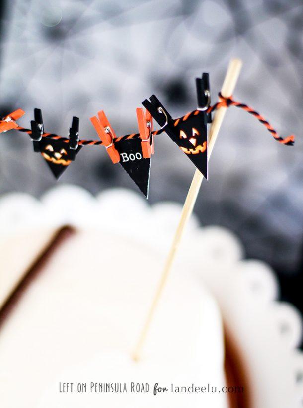 Halloween Party Mini Cake Bunting Free Printable
