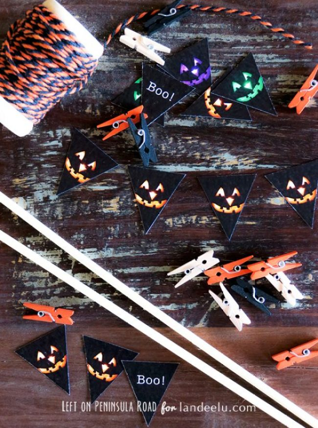 Supplies needed for Halloween Mini Cake Bunting
